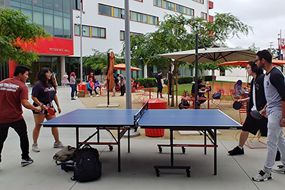 Student activities - table tennis match