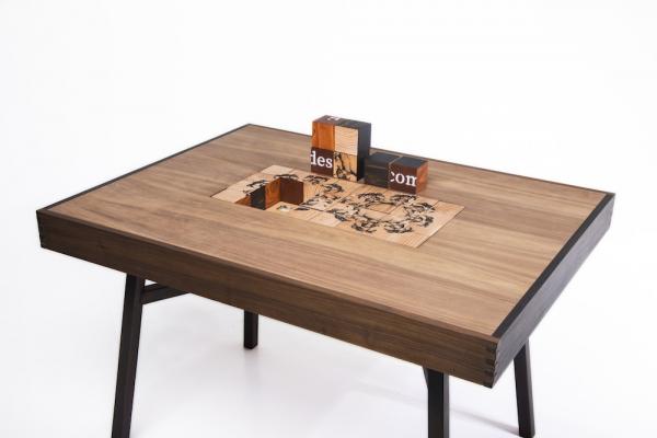 DaSilva's table that was part of her senior showcase.