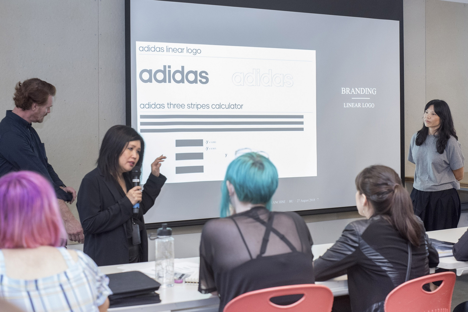 Junior Mentor & Alumni (98) Jennifer Tong for Adidas Direction with Chair of Fashion Department Jill Zeleznik