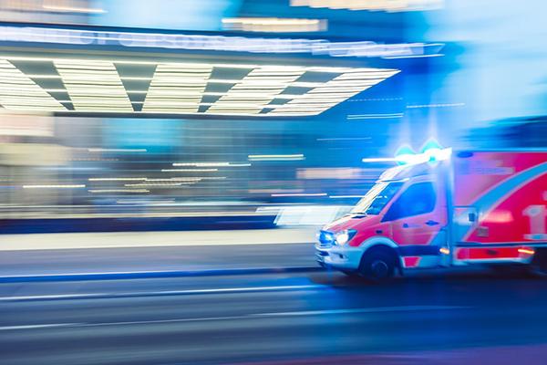 Picture of ambulance rushing