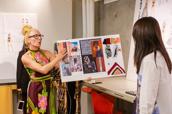 BCBG's Doreen Brennan mentoring Otis College fashion design students