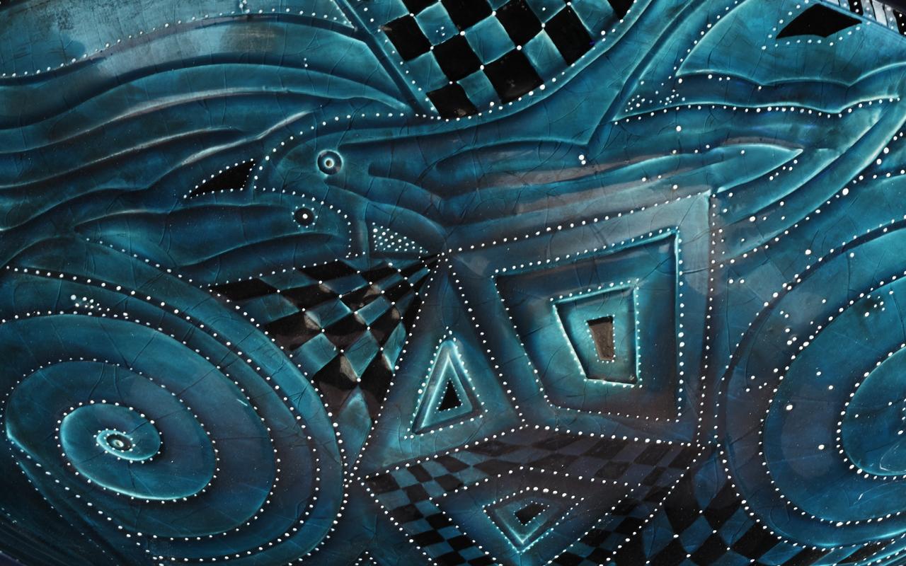 Bacerra ceramic vase detail