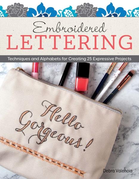 Embroidery designs book by Debra Valencia