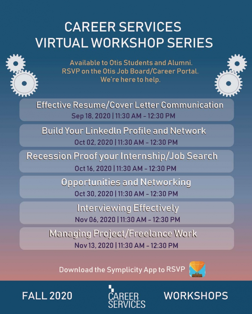 Otis Fall 2020 Virtual Workshop Series