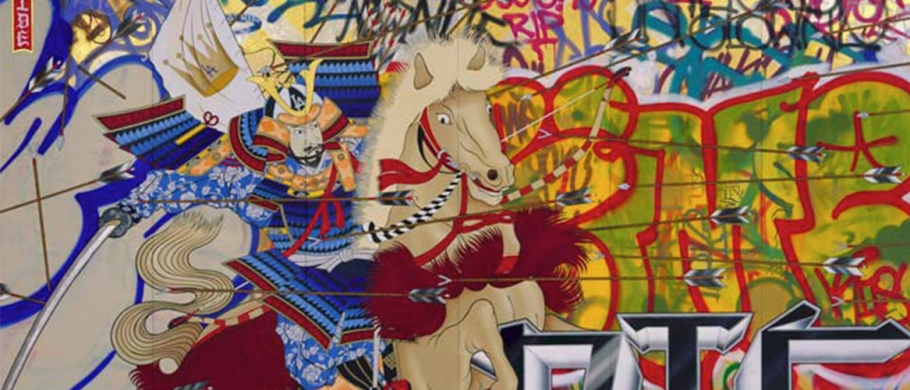 """Gajin Fujita's """"Ride or Die"""" (Courtesy of L.A. Louver, Venice, CA)"""