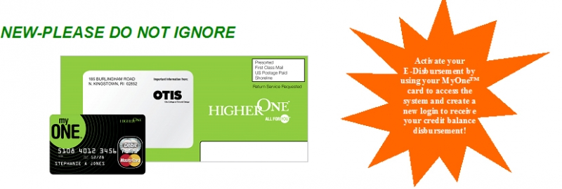 HigherOne Green Envelope