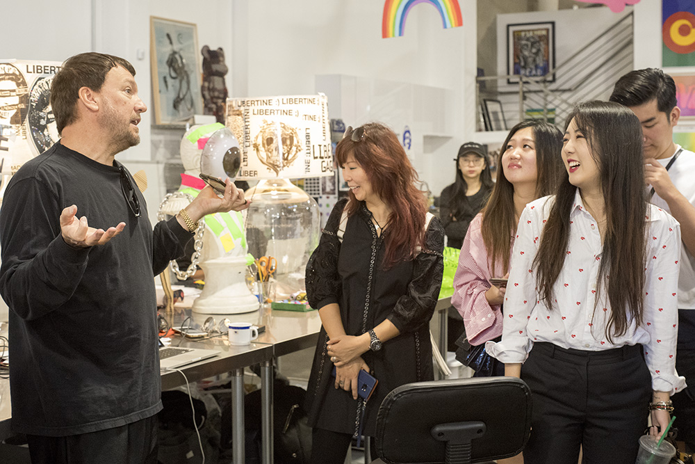 Johnson Hartig giving direction at Libertine Studios