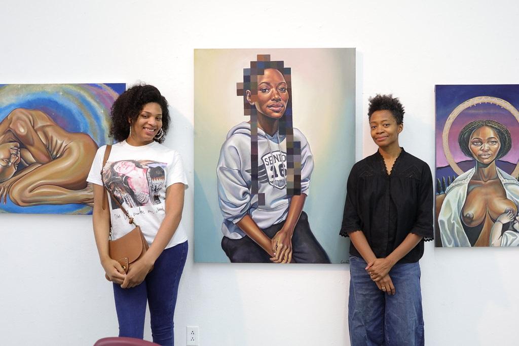 Lanise Howard, Fine Arts '20 with Kara Walker
