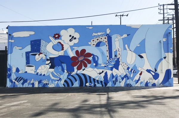 Charlie Kendall mural for Pabst Blue Ribbon