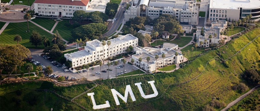 birds eye view of the LMU campus