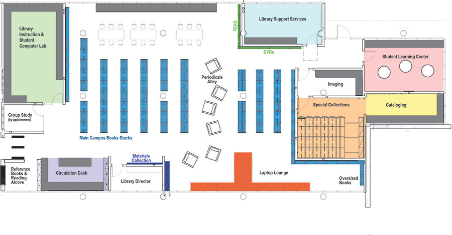 Map of New Library