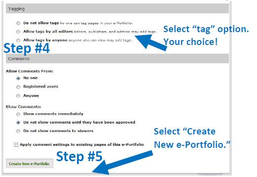 EPortfolio Tagging Options