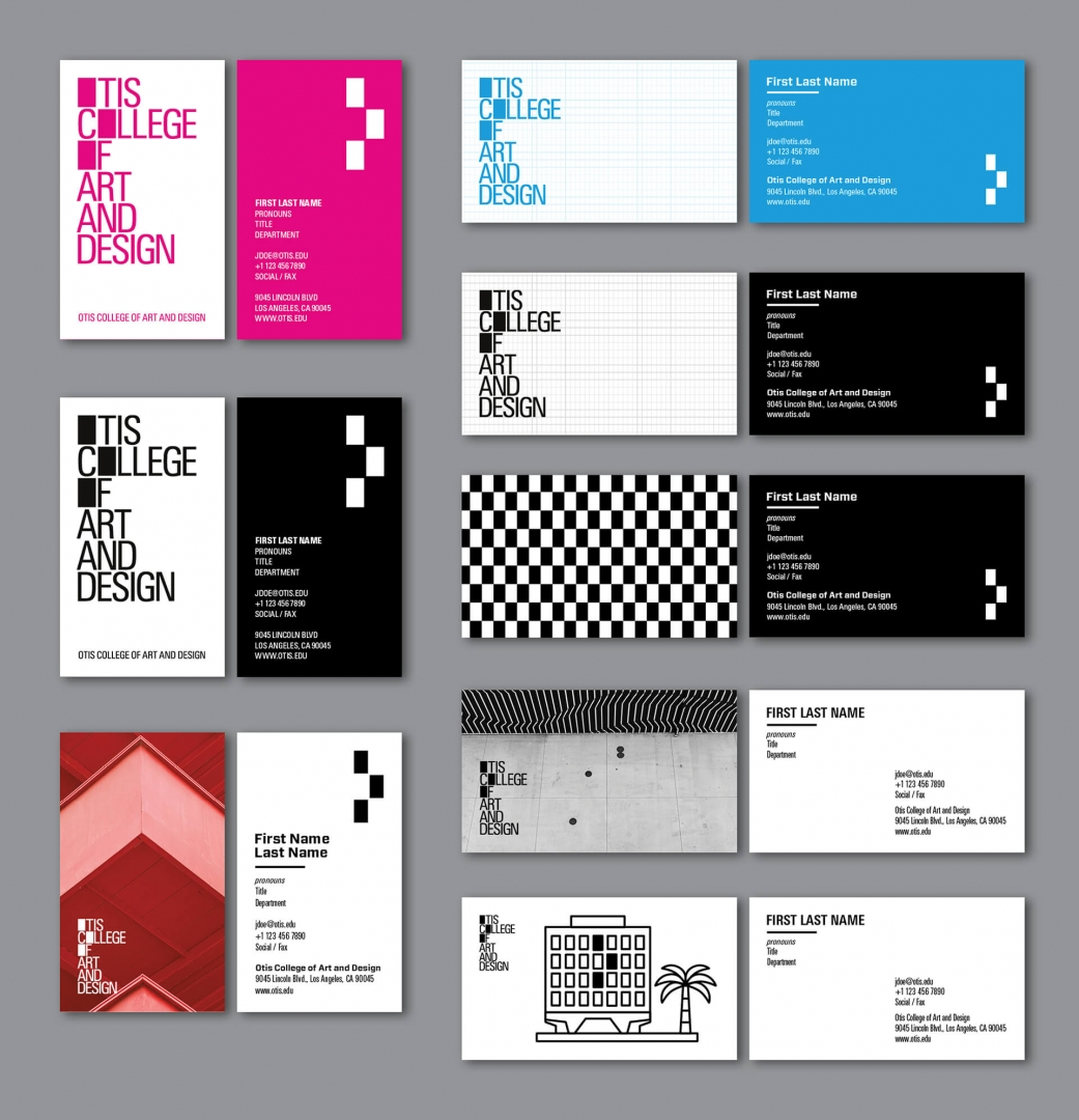 Otis College Business Card Collection