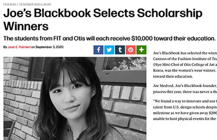Joes' Black Book Winner - Julia Choi
