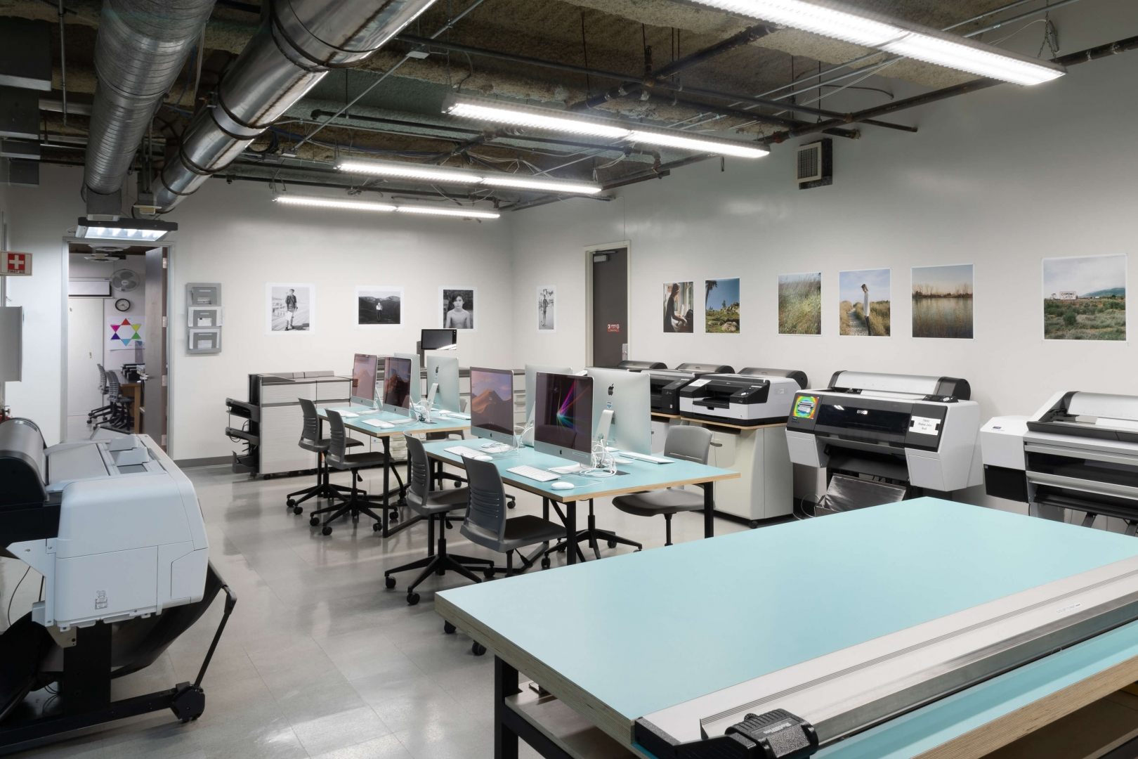 Photo lab printing room