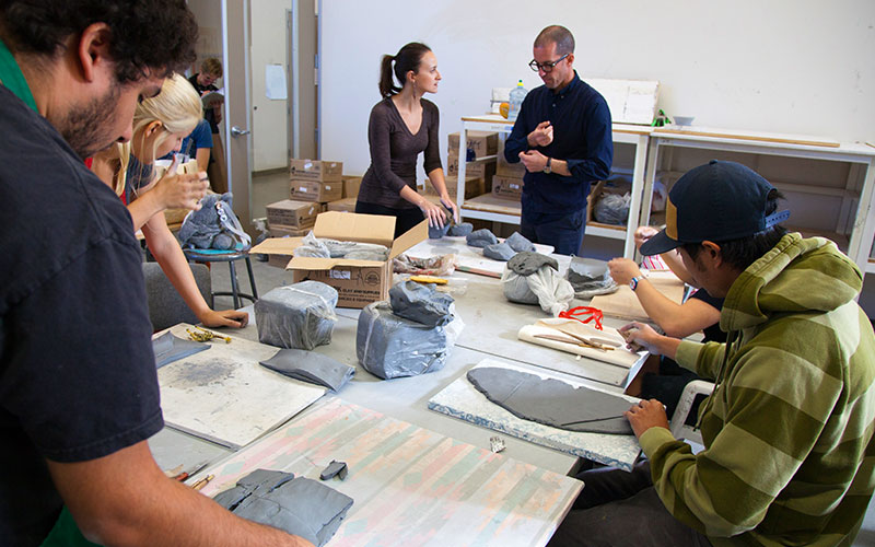 Programs at Otis College: image of ceramics class