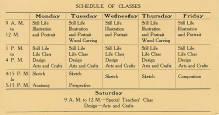 Schedule of Classes, 1918-1919