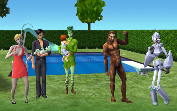 Still from The Sims 2