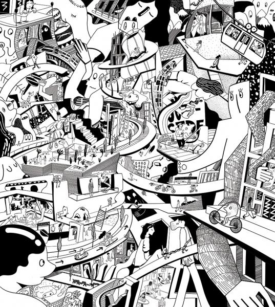 Charlie Kendall illustration Alternative Transportation