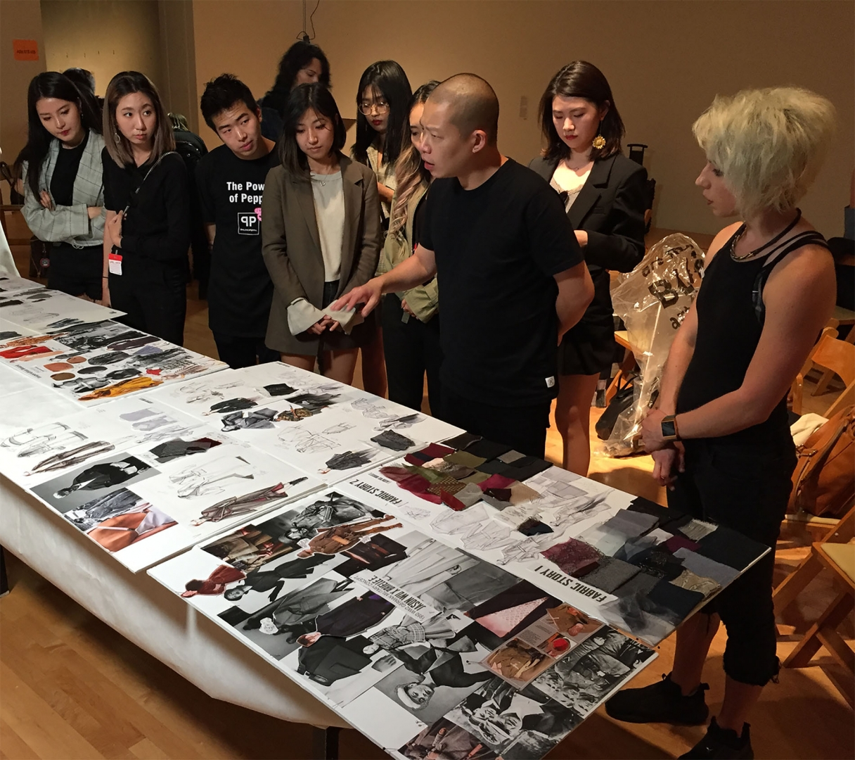 Senior Mentor Jason Wu doing Critique with Team at LACMA