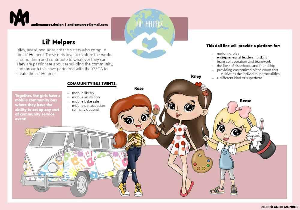 Lil' Helpers Girls Doll Line