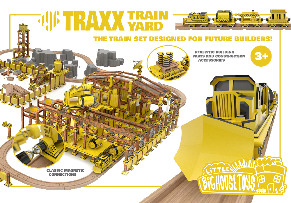 The reconfigurable train set for designed for future builders