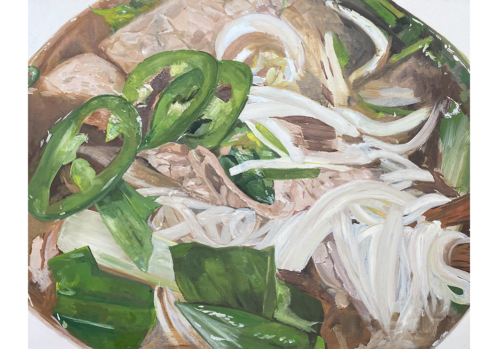 Pho soup. Oil on Canvas