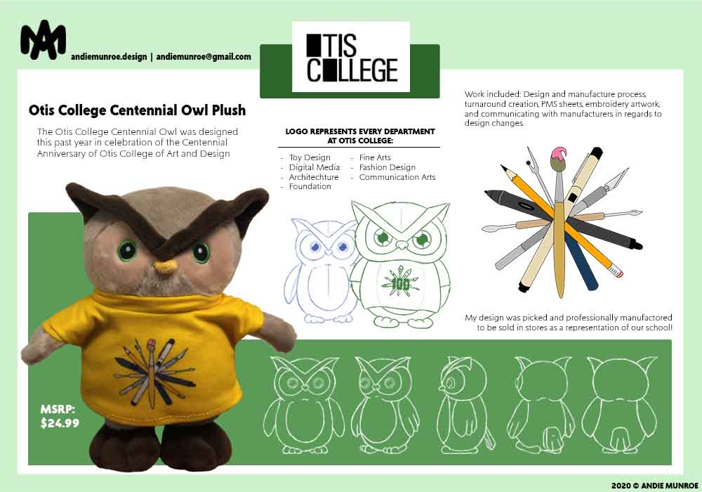 Otis College Centennial Owl