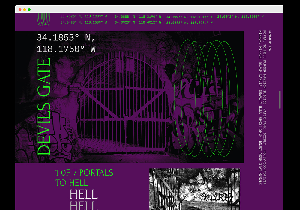 This is a website archive of haunted and paranormal locations in Los Angeles.