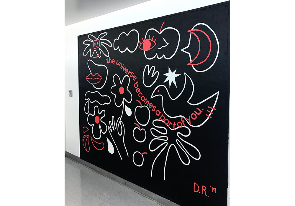 I painted this mural for the Comm Arts Waiting room Gallery. The mural is inspired by Los Angeles, tea, and being present in daily life to observe the beauty that surrounds our environment.