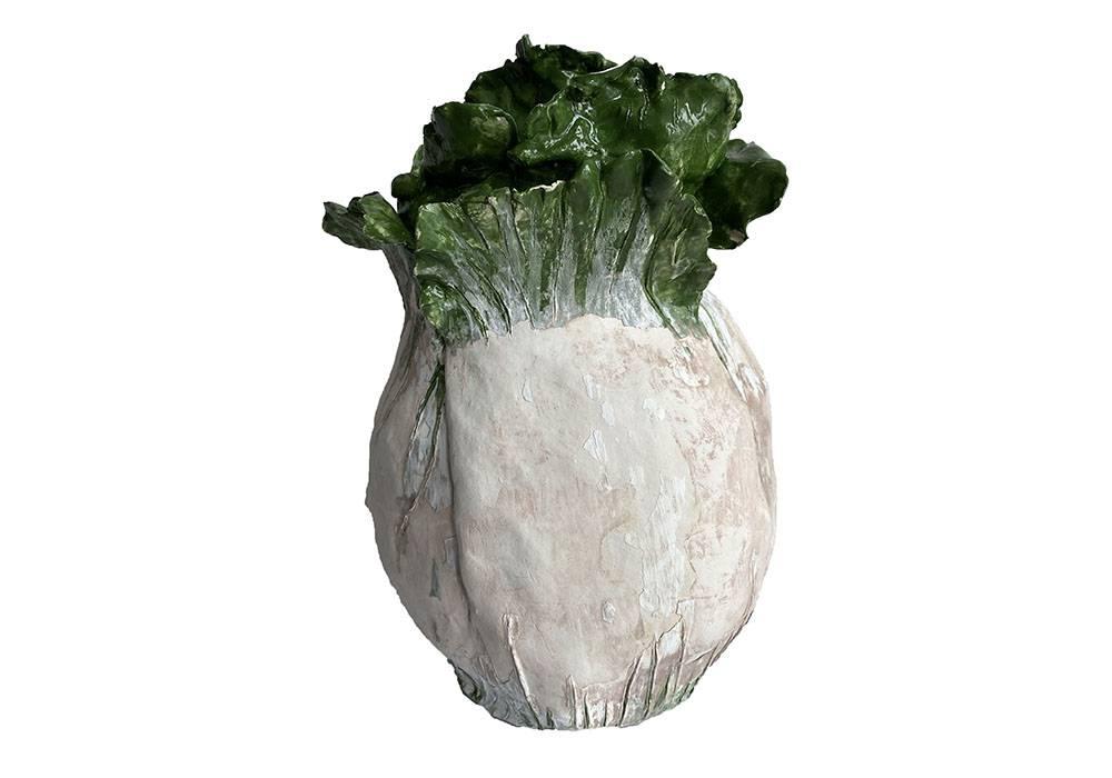 Ceramic sculpture of Cabbage.