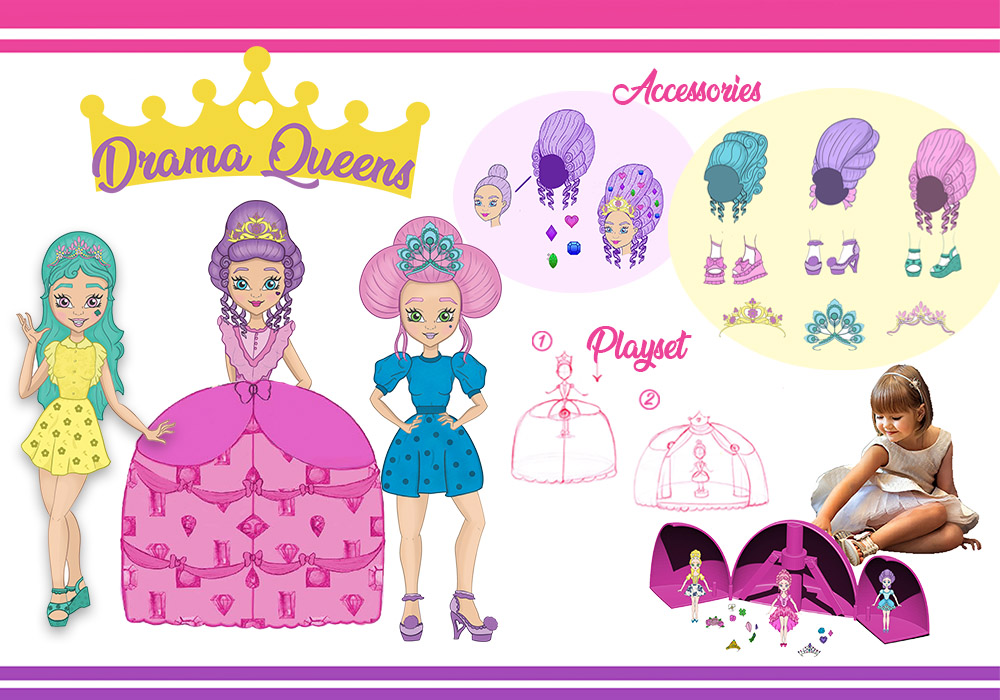 Drama Queens Transforming Doll Playset