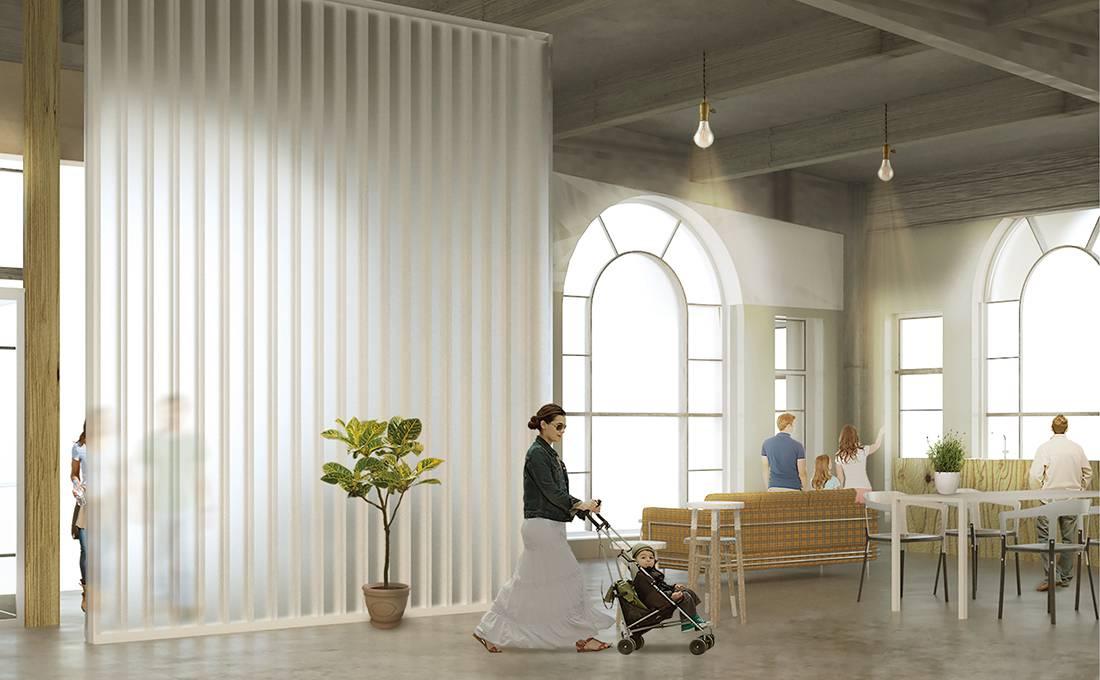 Urban Arboretum-Commune Interior View