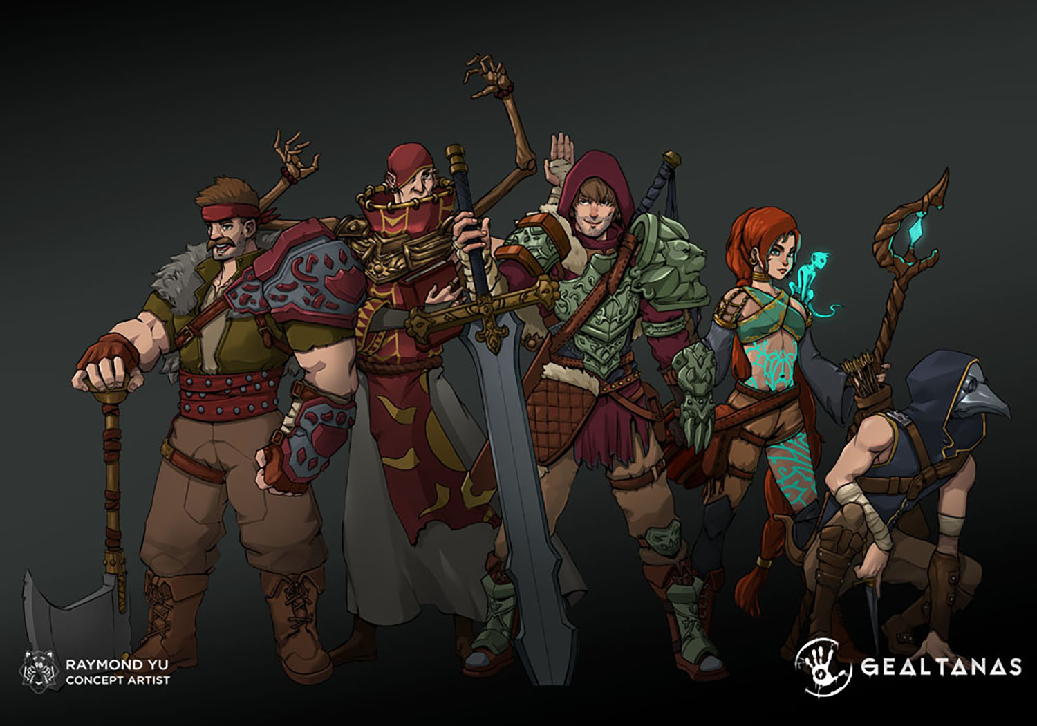 Heroes for the an Irish and Gaelic based fantasy game idea, Gealtanas.