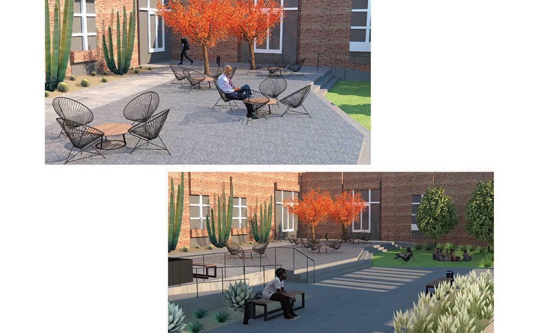 Perloff Hall Courtyard Landscape Design - Views