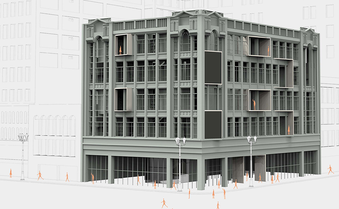 Exterior rendering of the CO-LIFE apartment building