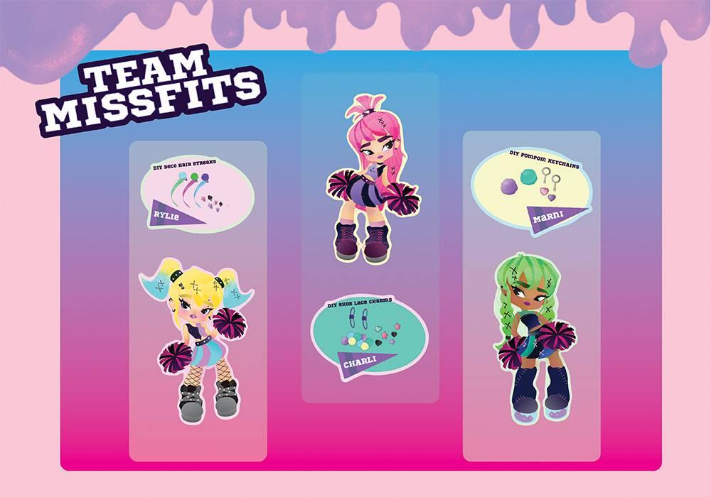 Team Missfits Fashion Doll Line
