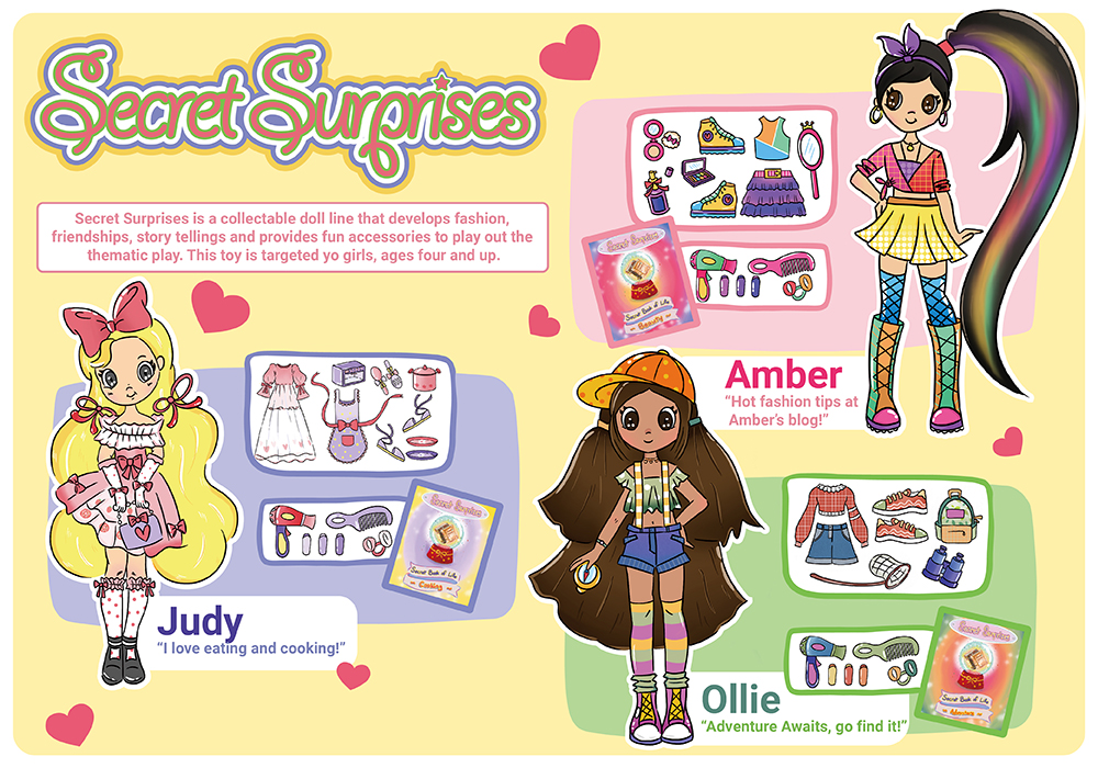 Fashion Doll Line: Secret Surprises