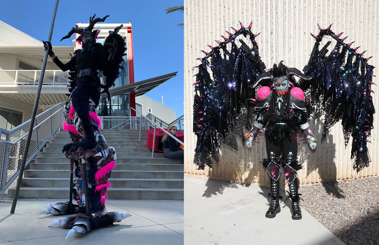 These are two full costume builds I focused on in order to explore a little more into mechanical and electrical engineering when it came to prop devices.
