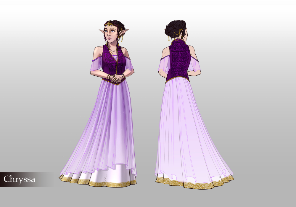woman in a purple dress and purple hairwoman in a purple dress and purple hair