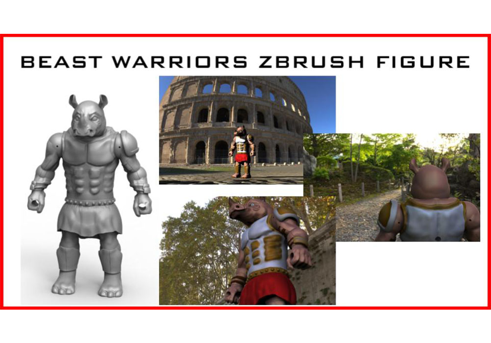Beast Warriors Brunicus figure modeled in Zbrush