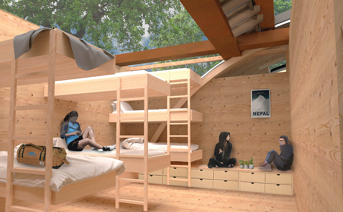 A Place in the Trees for Homeless Youth - Elevated Sleeping Bunk