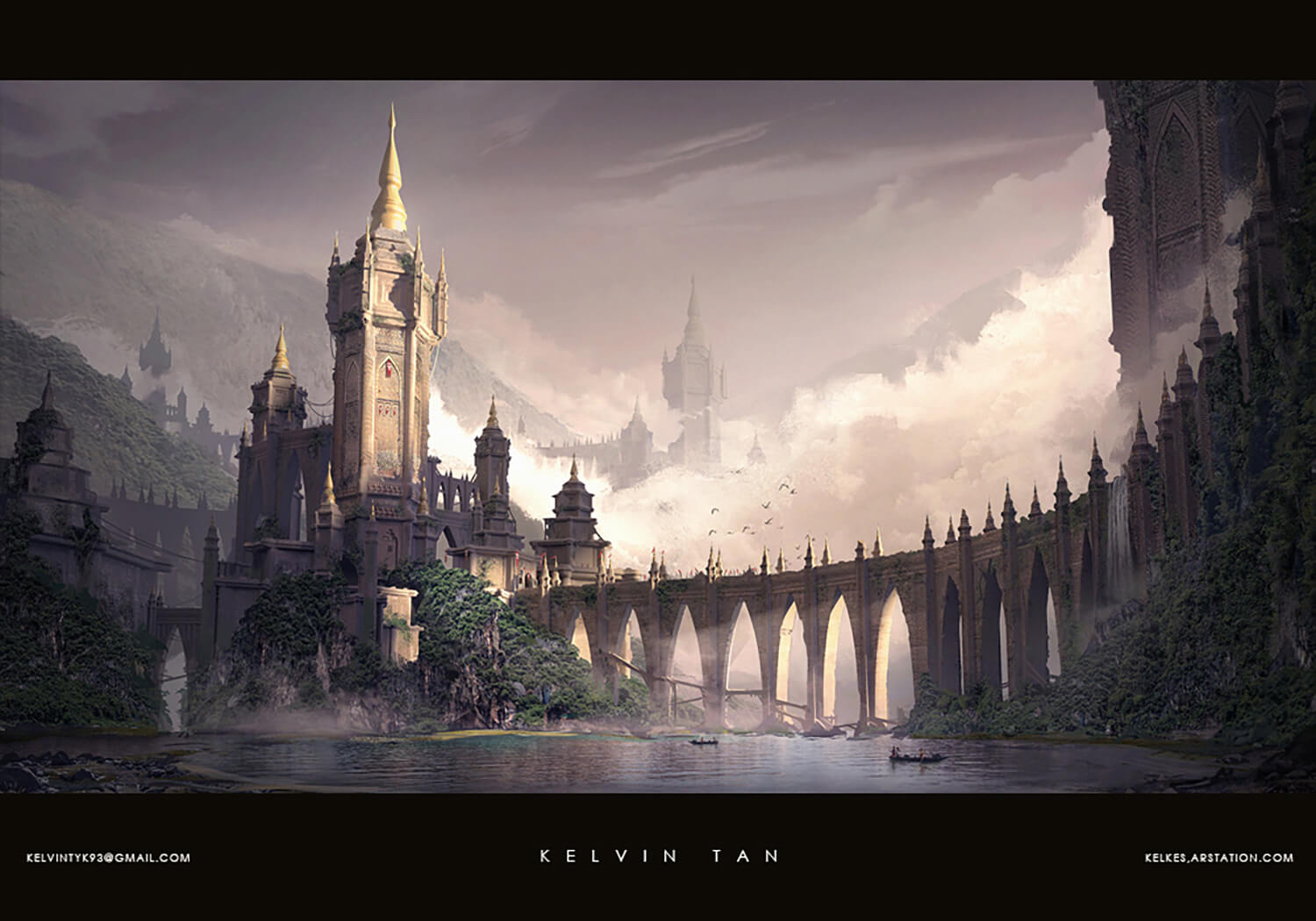 Environmental and architectural design of the Ravunian Border Fortress, bordering Eslen and Kaldera.