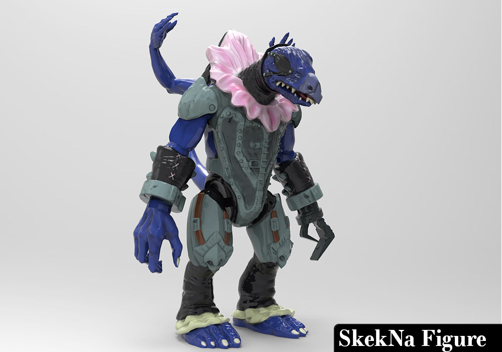 SkekNa action figure sculpted and painted in Zbrush and rendered in Keyshot
