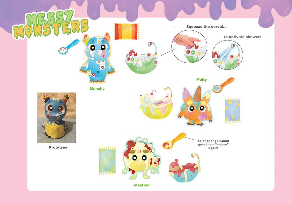 Messy Monsters Preschool Line