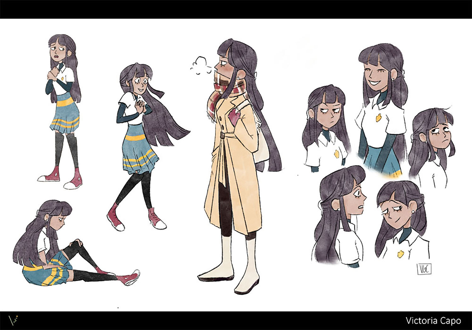 """Character exploration for Eden, the protagonist of my thesis project """"Spirit Box""""."""