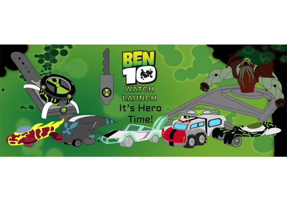Ben 10 Watch Launch is the awesome vehicle toy line with cars designed after Ben Tennyson's different aliens.
