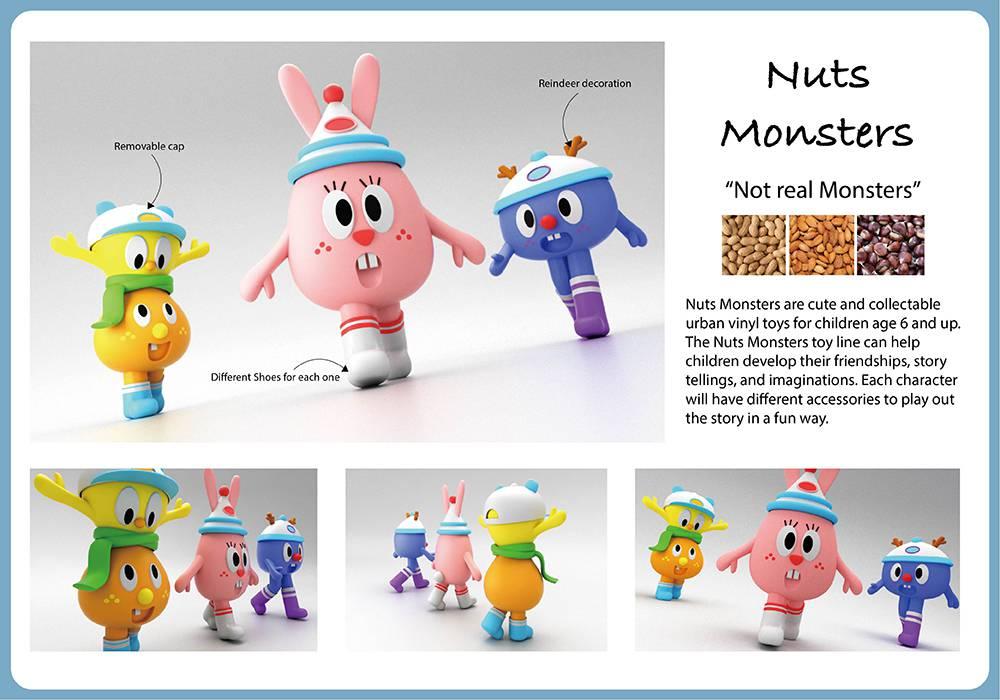 Urban Vinyl Toys: Nuts Monsters
