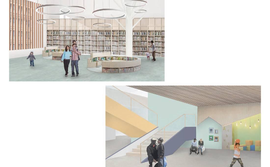 DTLA Los Angeles Elementary School - Interior Views