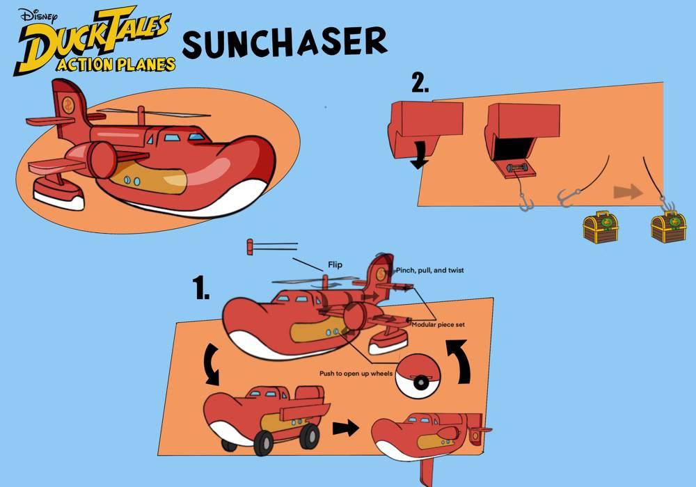 DuckTales Action Plane Sunchaser